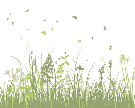 Illustration pour Summer meadow background illustration with transparency and meshes  - image libre de droit