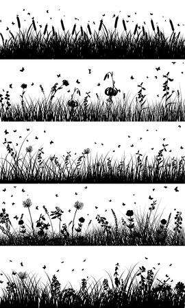 Illustration pour Summer meadow background - image libre de droit