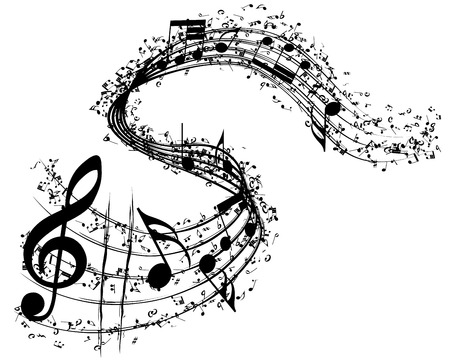 Illustration for Musical background. vector illustration without transparency. - Royalty Free Image