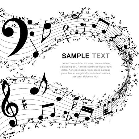 Illustration pour Musical background.  - image libre de droit