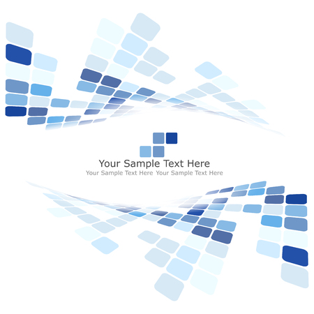 Ilustración de Checkered Background With Text Space. Ideal Balanced Colors in Blue Tone. Suitable For Creating Business, Technological and Other Designs. Vector Illustration. - Imagen libre de derechos