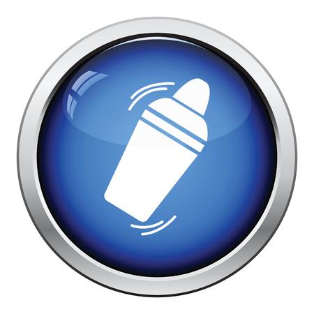 Illustration pour Bar shaker icon. Glossy button design. Vector illustration. - image libre de droit