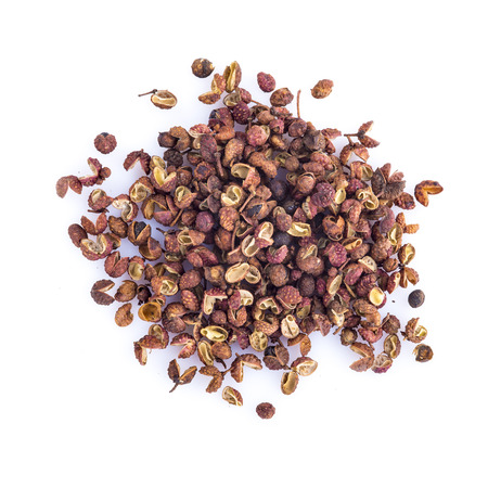 Photo for Dried Sichuan pepper isolated on a white background - Royalty Free Image