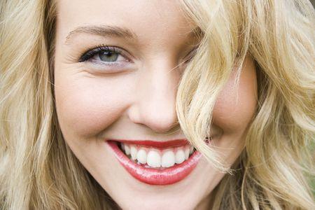Beautiful girl laughing