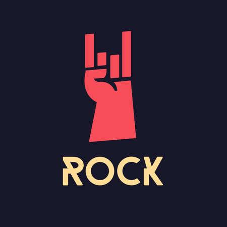 Illustration pour rock hand - vector illustration - image libre de droit