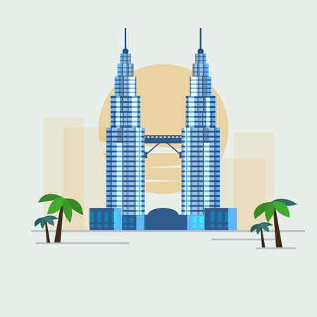 Photo for Kuala Lumpur, Malaysia - vector illustration - Royalty Free Image