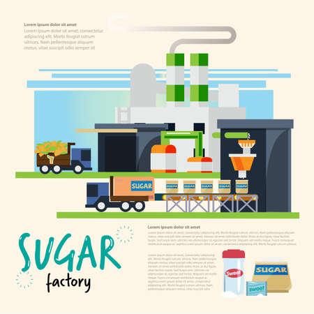 Ilustración de Sugar industrial concept - vector illustration - Imagen libre de derechos
