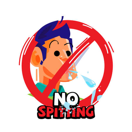 Illustration pour No spitting sign - vector illustration - image libre de droit