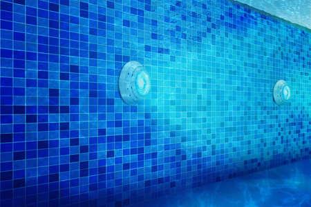 Photo pour pool lighting using LED lights waterproof - image libre de droit