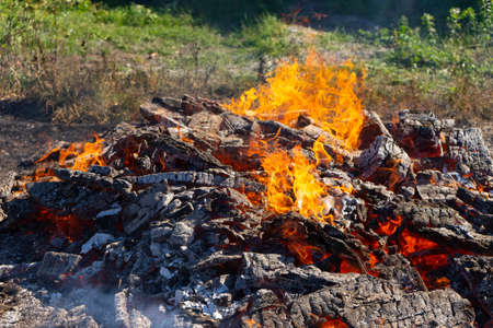 Photo for A large fire burning in the open - Royalty Free Image