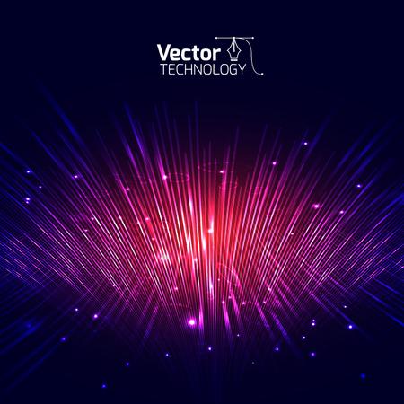 Illustration pour Vector lines equalizer 3D and illustration - image libre de droit