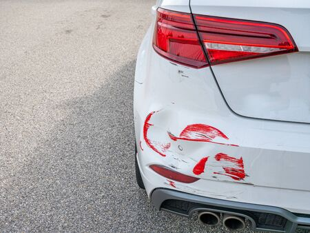 Photo for Dent after a parking damage to the car - Royalty Free Image