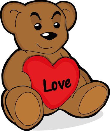 Ilustración de vector illustration of a teddy bear - Imagen libre de derechos