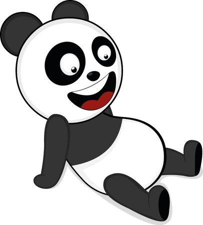 Ilustración de Vector illustration of a panda bear cartoon - Imagen libre de derechos