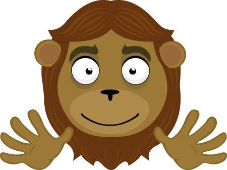 Ilustración de Vector illustration of a cute lion cartoon - Imagen libre de derechos