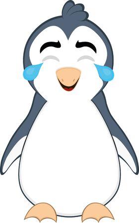 Ilustración de Vector illustration of a cute penguin cartoon - Imagen libre de derechos