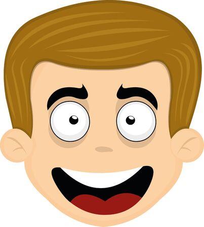 Ilustración de Vector illustration of the face of a nice man - Imagen libre de derechos