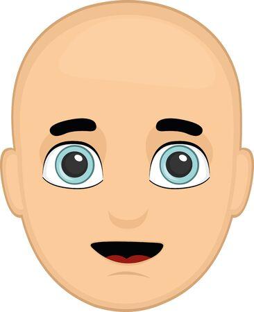 Ilustración de Vector illustration of a bald person's face - Imagen libre de derechos