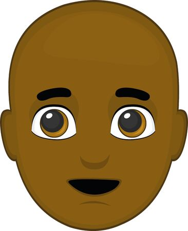 Ilustración de Vector illustration of the face of an African - Imagen libre de derechos