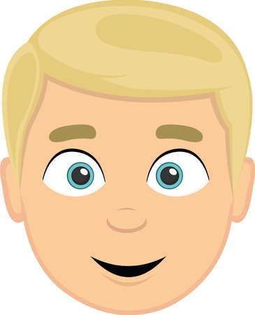Ilustración de Vector illustration of the face of a blond man with light eyes - Imagen libre de derechos