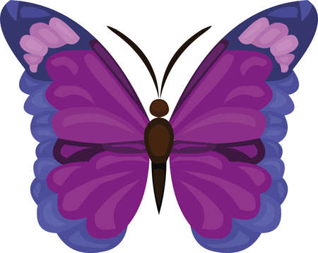 Ilustración de Vector illustration of a cartoon butterfly - Imagen libre de derechos
