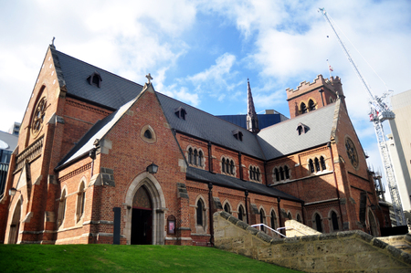 Foto de St George's Cathedral for australian people and foreigner travelers visited travel and respect praying at Perth, Australia - Imagen libre de derechos