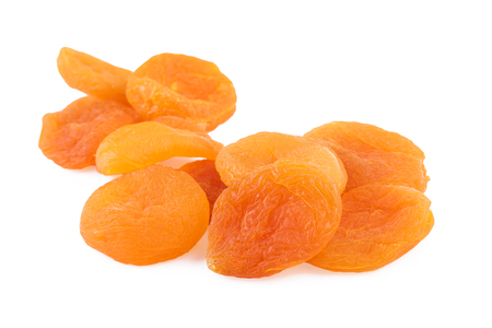 Photo for Dried Apricots Closeup White - Royalty Free Image