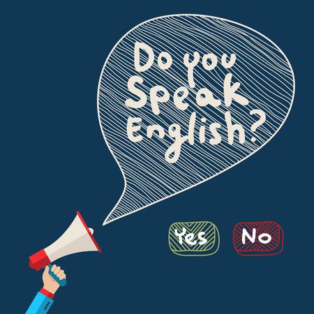 Ilustración de Concept of learning English. Flat design, vector illustration - Imagen libre de derechos
