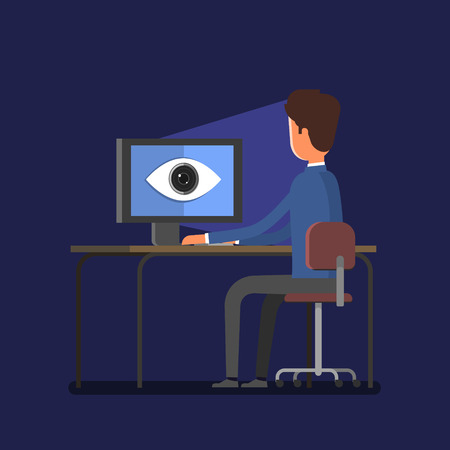 Concept of spying. Big brother