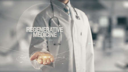 Photo pour Doctor holding in hand Regenerative Medicine - image libre de droit