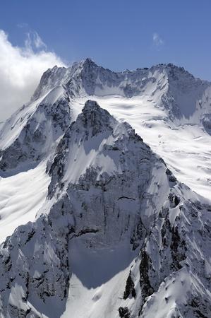 High mountains. Caucasus, Dombay, Peak Ine.