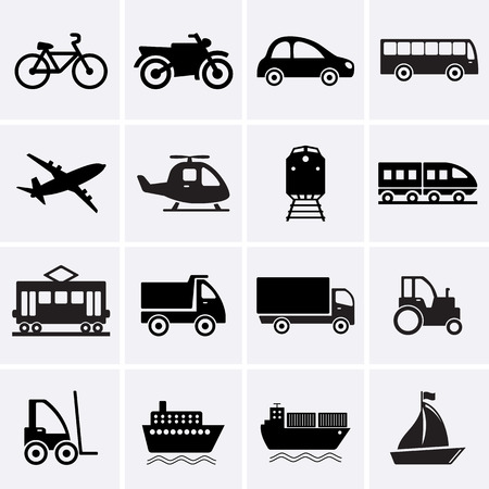 Photo pour Transport Icons. Vector - image libre de droit