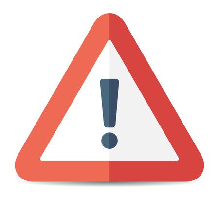 Ilustración de Red exclamation danger sign. Vector - Imagen libre de derechos