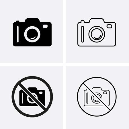 Illustration pour Photo or Camera Icons. Vector for web - image libre de droit