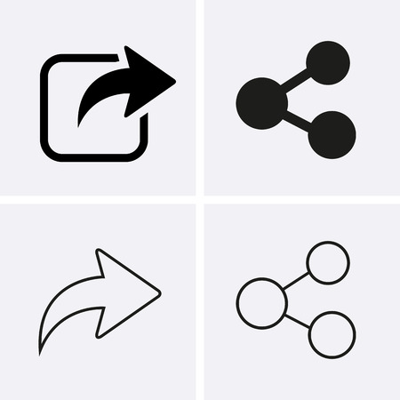 Illustration pour Share Icons. Vector for web - image libre de droit