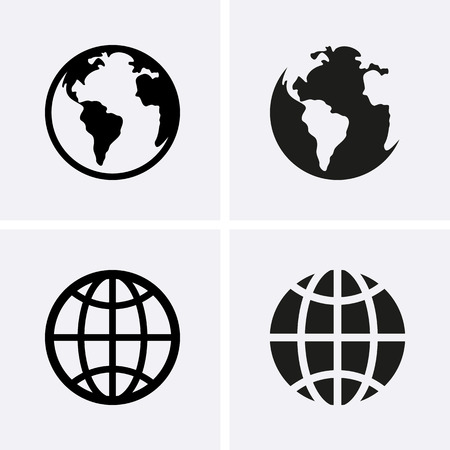 Illustration for Earth Globe Icons. Vector - Royalty Free Image