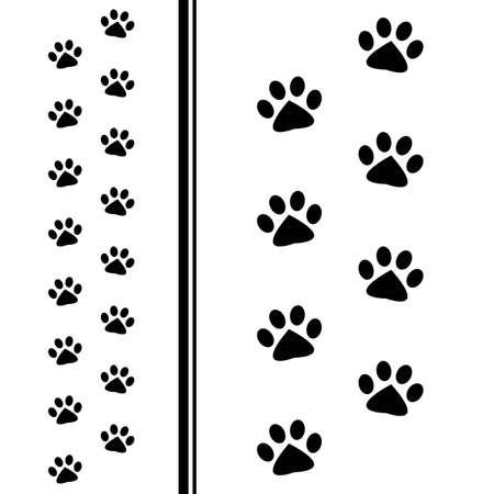 Ilustración de animal paw prints - Imagen libre de derechos