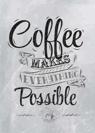 Illustration pour Poster lettering the coffee break time for you stylized inscription coal   - image libre de droit