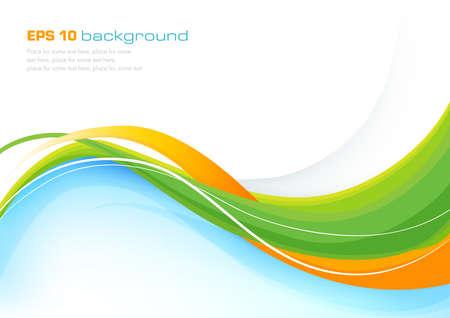 Ilustración de Colorful abstract background with elegant lines - Imagen libre de derechos