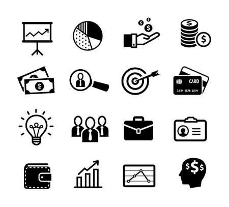 Illustration pour Business icons, productivity, team work, human resources, management. - image libre de droit