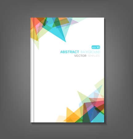 Ilustración de Brochure template, book cover, flyer design - Imagen libre de derechos