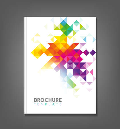 Illustration pour Brochure template, book cover, flyer design - image libre de droit