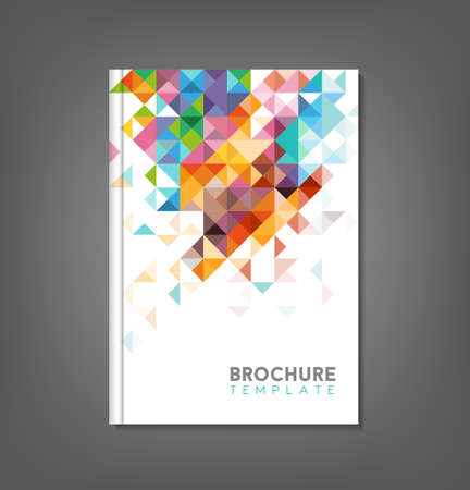 Illustration pour Brochure template, book cover, flyer design - image libre de droit