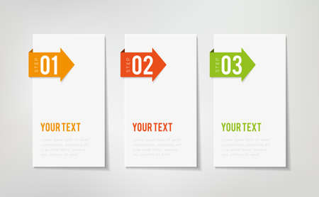 Illustration pour Three steps infographics - can illustrate a strategy or a workflow - image libre de droit