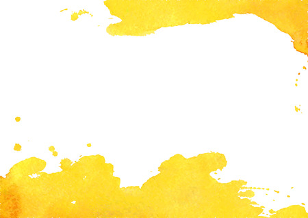 Illustration pour Background with yellow watercolor spot. White background with watercolor stains and place for your text. Vector illustration. - image libre de droit