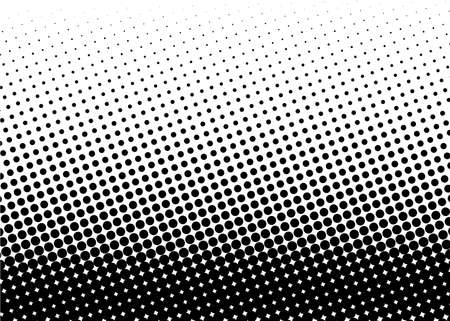 Illustration pour Halftone pattern. Comic background. Dotted retro backdrop with circles, dots. Design element for web banners, posters, cards, wallpapers, sites. Pop art style. Vector illustration. Black and white - image libre de droit