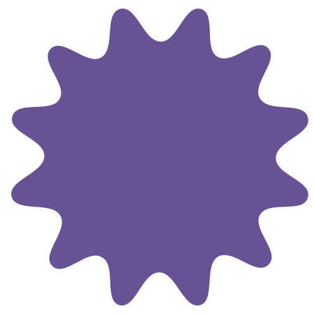 Ilustración de Icon of starburst, sunburst badge,label, sticker. Purple, lilac, violet color. Simple flat style Vintage  design elements. Vector illustration - Imagen libre de derechos