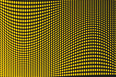Illustration pour Abstract futuristic halftone pattern. Comic background. Dotted backdrop with circles, dots, point large scale. Design element for web banners, posters, cards, wallpapers, sites. Black, yellow color - image libre de droit