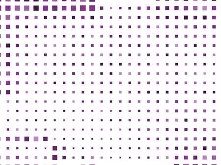 Illustration pour Abstract geometric pattern with small squares. Design element for web banners, posters, cards, wallpapers, backdrops, panels Violet, purple color Vector illustration Grunge halftone background. - image libre de droit