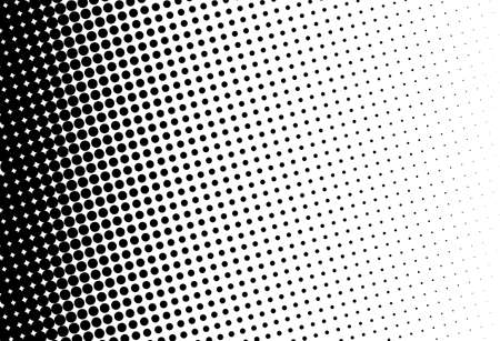 Illustration pour Abstract futuristic halftone pattern. Comic background. Dotted backdrop with circles, dots, point large scale. Design element for web banners, posters, cards, wallpapers, sites. Black and white color - image libre de droit